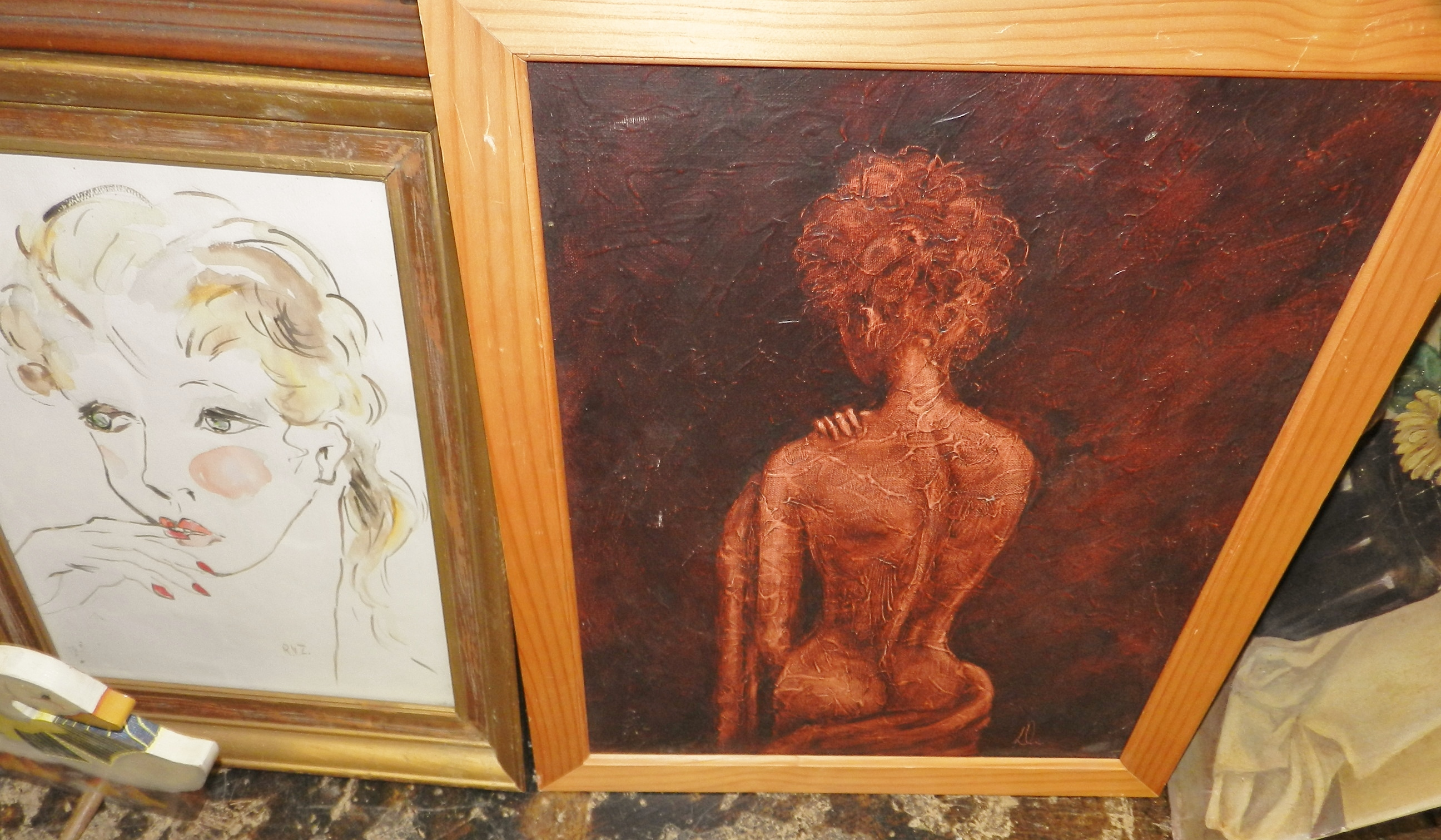 original drawings, paintings, sculpture, art, vintage Prints Fort Worth art