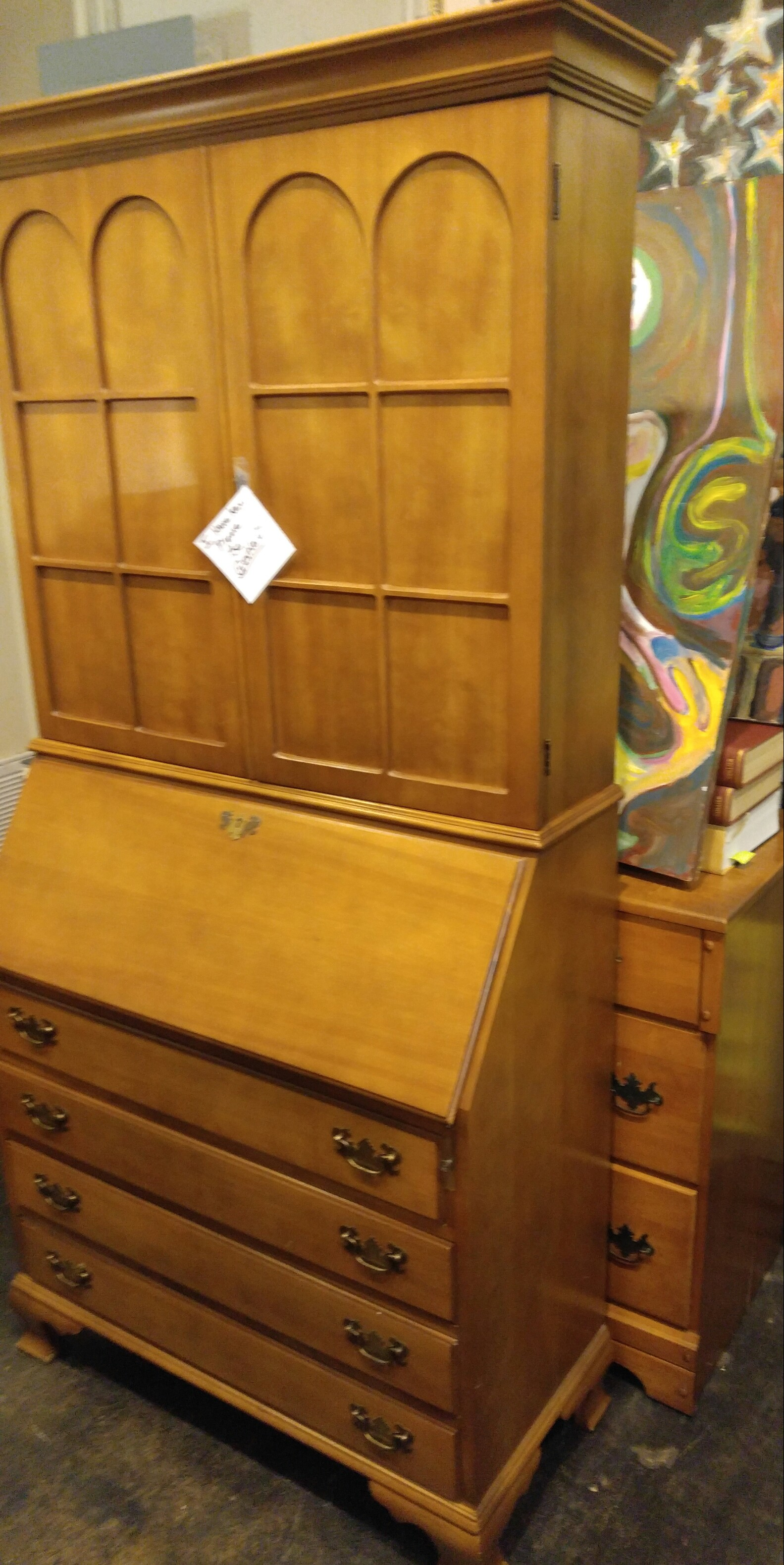 Mid Century Incredible Desk and Cabinet, Fort Worth