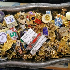 Vintage pin back service novelty pins
