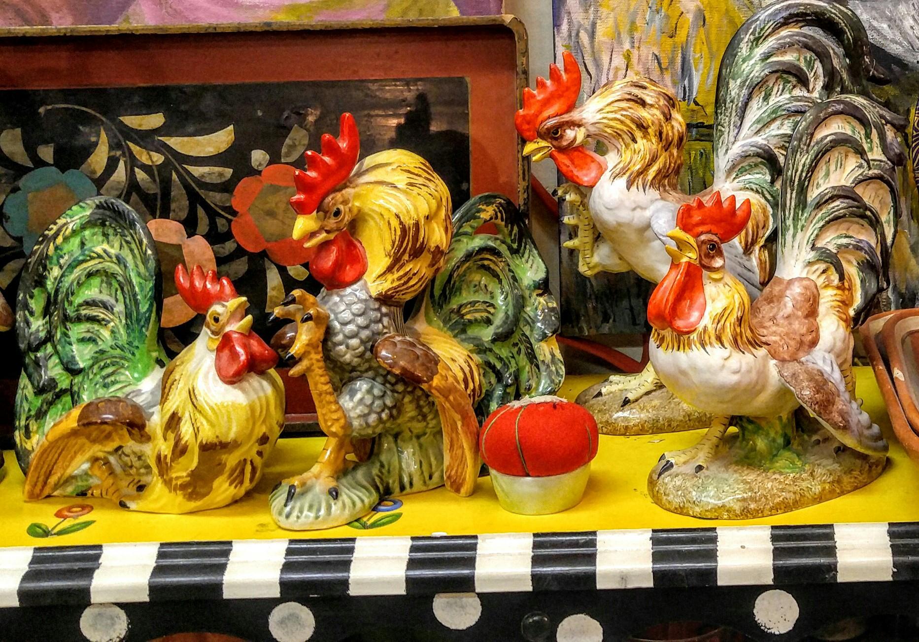 Vintage Chickens  Paintings