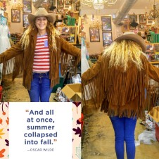 Long Fringe Suede Jacket Easy Rider '70s Style, size Large