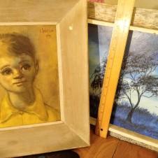 1960s 1970s Mid-Century Art Paintings Fort Worth Texas