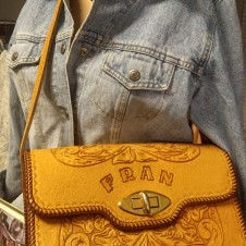 Tooled Western Vintage Leather Handbag, Fort Worth Vintage