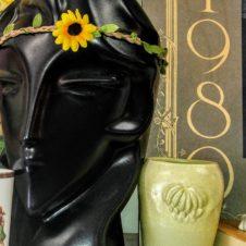 Art Deco Style Black Display Head, antiques Fort Worth