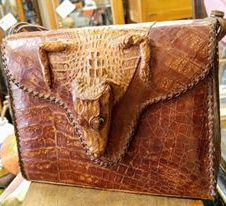 VINTAGE Alligator Purse with Alligator Head and Feet, Fort Worth