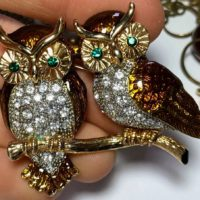 sweetest vintage Owl Brooch!